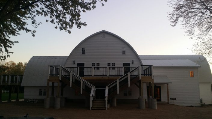 Exterior photo of John P Furber Historic Farm Barn Wedding Venue
