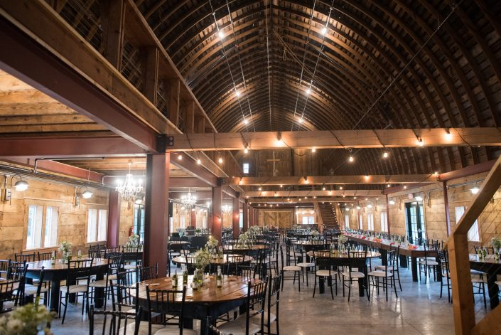 Interior of John P Furber Historic Farm Barn Wedding Venue