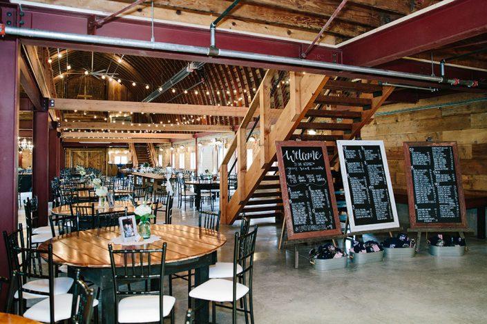 first floor at rustic barn wedding venue