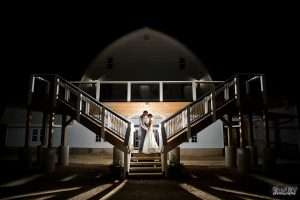 Furber Farm Barn Wedding at Night