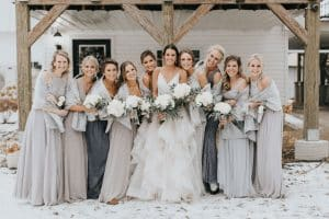 Elegant Winter Barn Wedding
