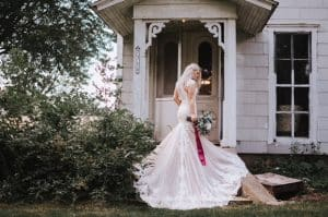 MN Barn Wedding Venue Bridal Photo